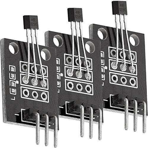 AZDelivery 3 x KY-035 magnetischer Hall Sensor Modul analog kompatibel mit Arduino und Raspberry Pi inklusive eBook!