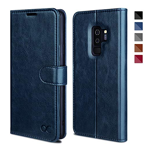 OCASE Samsung Galaxy S9 Plus Case, S9 Plus Wallet Case [TPU Shockproof Interior Protective Case] [Card Slot] [Kickstand] [Magnetic Closure] Leather Flip Case for Samsung Galaxy S9 Plus (Blue)