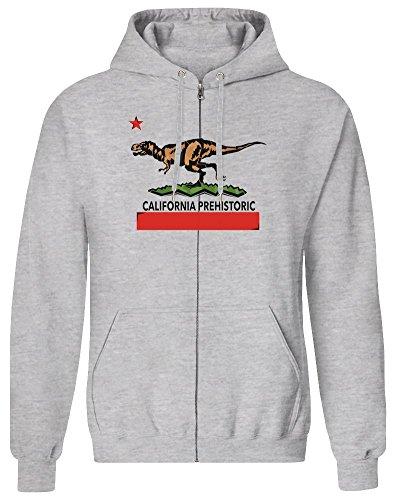 Harma Art Kalifornien Prähistorisch - California Prehistoric Zipper Hoodie Jumper Pullover for Men 100% Soft Cotton Mens Clothing XX-Large