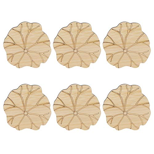Juego de 6 posavasos de madera, juegos de Costers de diseño clásico para mesa de madera, 3.3 pulgadas(#3)