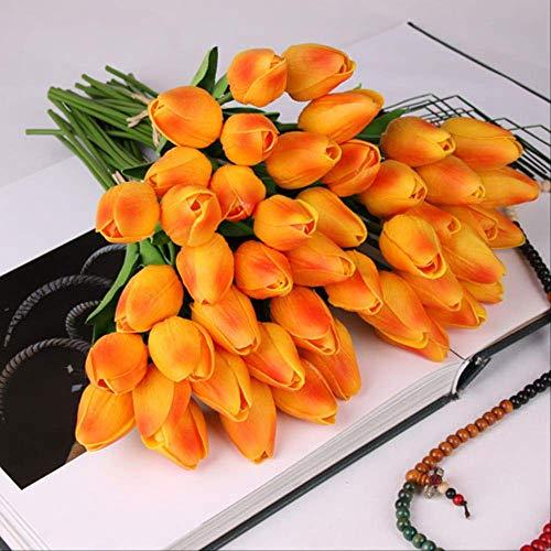 TOUT Fake Flower Schönheit Echte Touch Blumen Latex Tulpen Blume Künstliche Bouquet Gefälschte Blume Braut Bouquet Dekorieren Blumen Für Hochzeit g