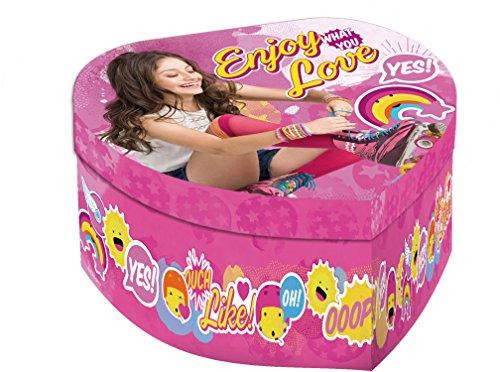 Soy Luna Joyero Tipo corazón con Espejo, Unica (Kids Euroswan WD18014)