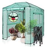 EAGLE PEAK 8'x6' Fast Easy Setup Pop Up Garden Greenhouse, Instant Walk-in Indoor & Outdoor Garden...