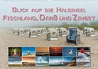 Blick auf die Halbinsel Fischland, Darss und Zingst (Wandkalender 2022 DIN A2 quer): Sand und Meer, romantische Badeorte, endlose Sandstraende mit einer beeindruckenden Tierwelt, das ist die Halbinsel Fischland-Darss-Zingst. (Monatskalender, 14 Seiten )