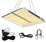 1000W LED Grow Light, HearGrow 3x3ft Full Spectrum No Noise Hydroponic Growing Light with Reflective Aluminum Hood for Indoor Plants, Greenhouse Veg Bloom Light with 352 LEDs, Actual Power 176Watt