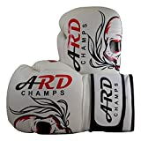 ARD Leather Boxing MMA Muay Thai Kick Boxing Punch Training Sparring Gloves MMA (16 OZ)