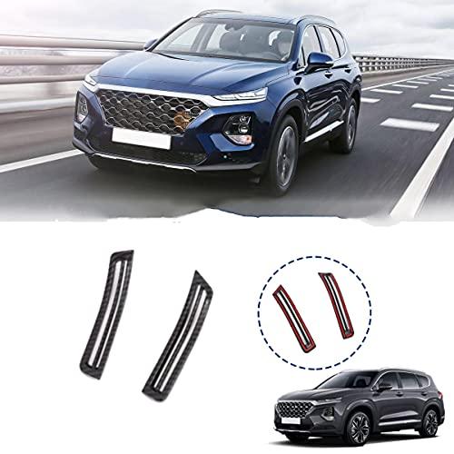 WZhen Carbon Fiber Car Interior A Pillar Aire Acondicionado Ventilador Trim Cubierta Accesorios Para Hyundai Santa Fe 2019 2020