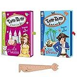 Blumie Shop – Juego de 2 juegos ABludis Tam Tam Il era una fois: las príncipes + los piratas + 1 regla marcadora de páginas de madera