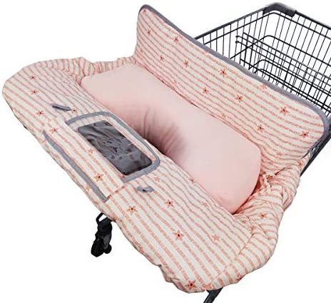 Shopping Cart Cover for Baby Toddler with Pillow 2 in 1 Cotton High Chair Cover Sturdy Stay product image