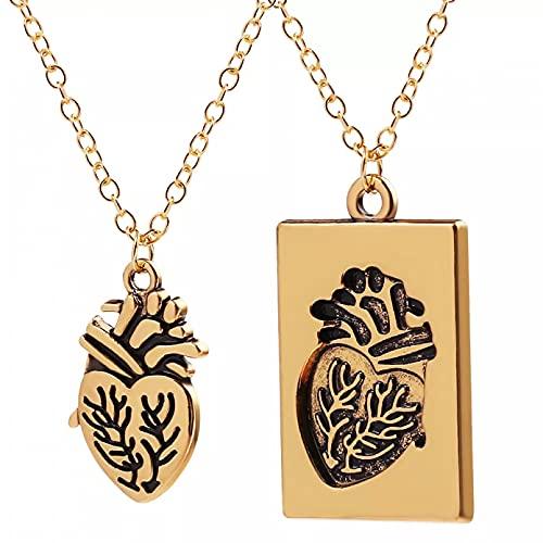 SOTUVO Collar de órgano de corazón de Amor Separable, Tablero de joyería médica, Collares con Colgante de Empalme para médico, Enfermera, joyería Femenina, Klok