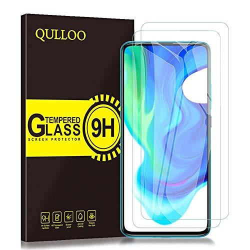QULLOO Panzerglas für Xiaomi Poco F2 Pro, [ 2 Stück] 9H Hartglas Schutzfolie HD Bildschirmschutzfolie Anti-Kratzen Panzerglasfolie Handy Glas Folie für Mi Poco F2 Pro 5G Smartphone