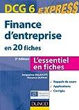 Finance d'entreprise - En 20 fiches