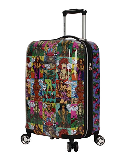 Betsey Johnson Designer 20 Inch Carry On - Expandable (ABS + PC) Hardside Luggage - Lightweight Durable Suitcase With 8-Rolling Spinner Wheels for Women (Girls Print)
