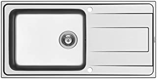 PYRAMIS ALEA PLUS 1B 1D Spüle aus Edelstahl - Ausschnitt 980 x 480 / Edelstahlspüle