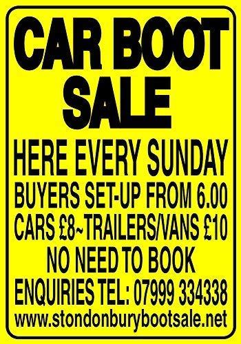 LynnYo22 Auto Boot Verkoop Hier Elke zondag Metal Sign 8x12