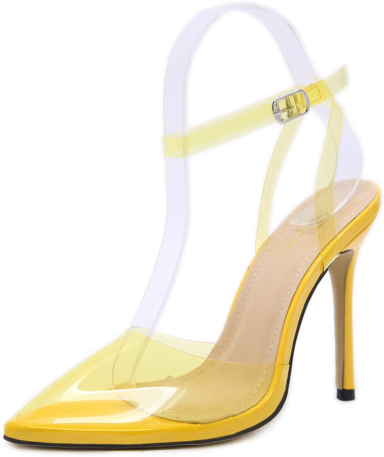 Women's Sandals - color High Heels Pointed Shallow Slip-on Sandals