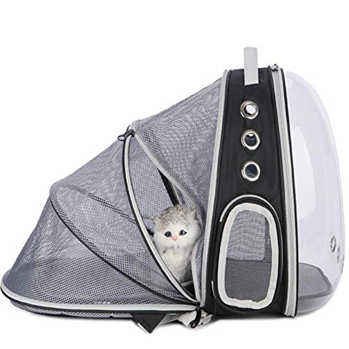 acaijj Mochila transportadora de mascotas expandible, bolsa de viaje...