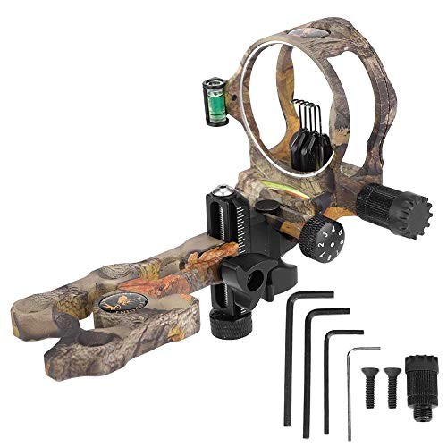 Zerone Quality 5 Pin Archery Compound Bow Sight Set with Light for Shooting Practicing Hunting Archery Accessory