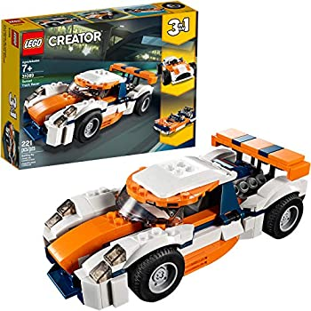 221-Piece LEGO Creator 3-In-1 Sunset Track Racer Building Kit