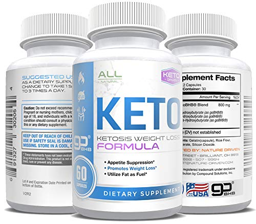 Keto Pills - Weight Loss for Men and Women - goBHB Formula - Ketosis Fat Burn - BHB Salts - Boost...