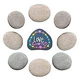 Piedras grandes planas/piedras para pintar y jardín, piedras decorativas de mármol natural, piedras decorativas para decoración de jardín, piedras naturales para acuario 5-7 cm