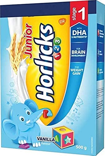 Horlicks Junior Stage 1 2 3 Years Health And Nutrition Drink 500G Vanilla Flavor