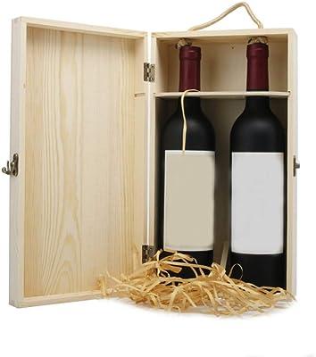 Single Bottle SpiritedShipper Wood Wine Box With Sliding Wood Lid