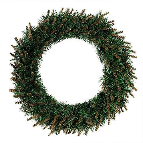 LED kerstkrans spar krans deur krans De kroon van Kerstmis guirlande met sneeuw slinger spar den tak slingerdecoratie Geen LED