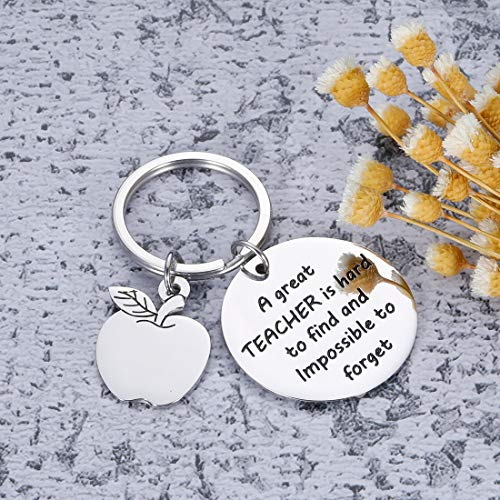 Teacher Appreciation Keychain Gifts for Women Men - Teacher Keychain Teacher Jewelry Teacher Gifts,Thank You Gifts Christmas Birthday Graduation Gifts for Teacher Valentine's Day Photo #4