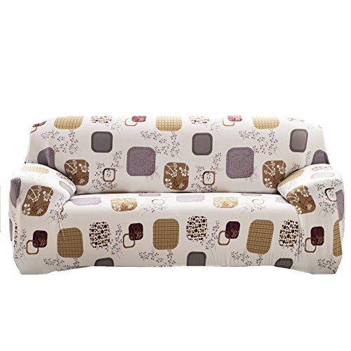TEERFU Stretch Canapé Housses Canapé couvertures Drap-Housse Housse de Chaise Meubles Protector, Flower 12, Sofa-3 Seater