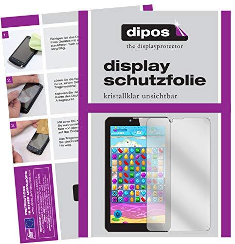 dipos I 2X Schutzfolie klar kompatibel mit Odys Pyro 7 Zoll Folie Bildschirmschutzfolie