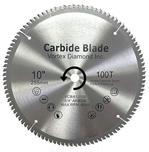 VORTEX DIAMOND VAB 10 Inch 100 Teeth TCT Non-Ferrous Metal Circular Saw...