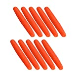 Flotadores de pesca Bobbers de espuma flotadores EVA Bobber Stoppers, 200pcs durable Indicador de gota de lágrima Flotadores de pesca Bobber Agua dulce de agua salada aparejos de pesca(L-Orange)