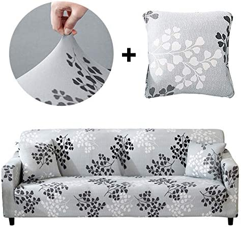 Best Bikuer Printed Sofa Cover Stretch Couch Cover Sofa Slipcovers for 3 Cushion Couch with 2 Free Pillow