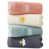 Hand Towels for Bathroom Set 4 Piece, 100% Cotton Bath Hand Towel , Face Towel Soft Highly Absorbent...