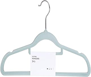Miniso Flocked Clothes Hanger 3 Pack (Mint Green)