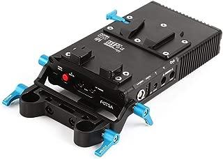 FOTGA DP500 III V-Mount V-Lock BP Battery Plate Power Supply for Sony A7 A7R A7Rs II III A9 A6300 A6500 Panasonic GH4 GH5 GH5s Canon 5D 6D 7D Mark II III Nikon D850 with Lock
