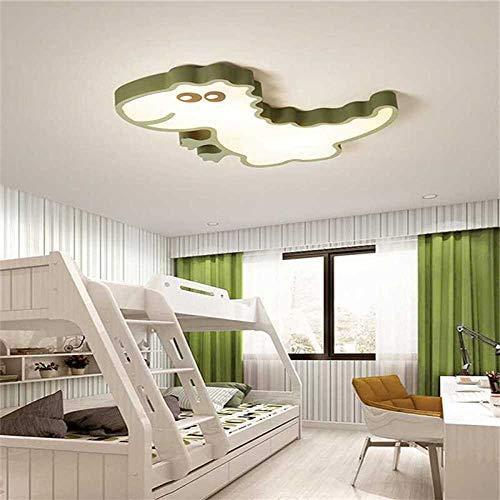 Moderne plafondlamp dinosaurus kinderkamer KidsHomeDeco plafondlamp - Kleur groen 570x600mm wit
