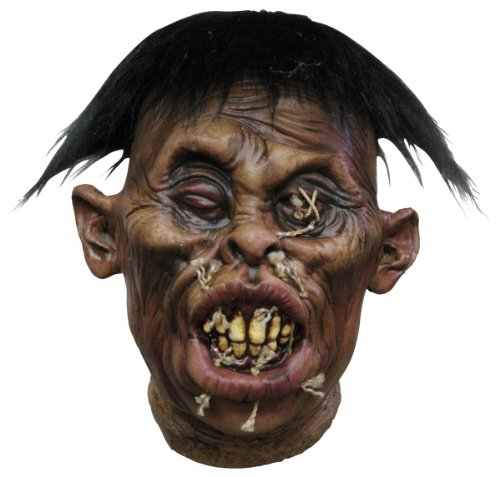 Generique - Décoration tête vaudou recousue adulte Halloween