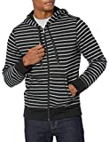 Amazon Essentials - Sudadera con capucha - Hombre negro negro (rayas) L