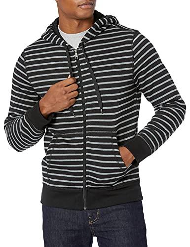 Amazon Essentials - Sudadera con capucha - Hombre negro negro (rayas) S