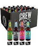 CREW REPUBLIC Craft Beer IPA Mix | Set de degustación | Ganador de The World Beer Awards 2020 | Regalo ideal para hombres | Elaborada en Baviera según la ley de pureza de Alemania (20 x 0,33I)
