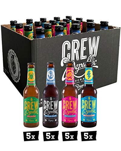 CREW REPUBLIC® Craft Beer IPA Mix | Probierset | World Beer Awards Gewinner 2020 | Ideales Geschenk für Männer | Bierspezialitäten aus Bayern nach deutschem Reinheitsgebot (20 x 0,33l)