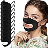 Pomobie Upgraded 10pcs Face_Mask with Clear Window- Unisex Face Mouth Outdoor for The Deaf and Hard of Hearing
