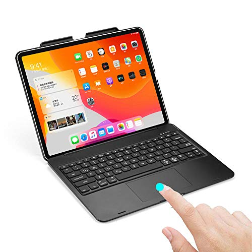 Keyboard Case For iPad Pro 12.9 Case 2018 Touchpad Backlit Wireless Keyboard For iPad Pro 4th Gen 12.9 inch 2020-Black with Touchpad_For Pro 12.9 2020