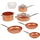 Copper Chef Elite 9 Piece Round Cookware Set -As Seen on TV! Heavy...