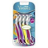 Venus Damen Gillette 3Einwegrasierer mit 3Klingen und Feuchtigkeit Streifen