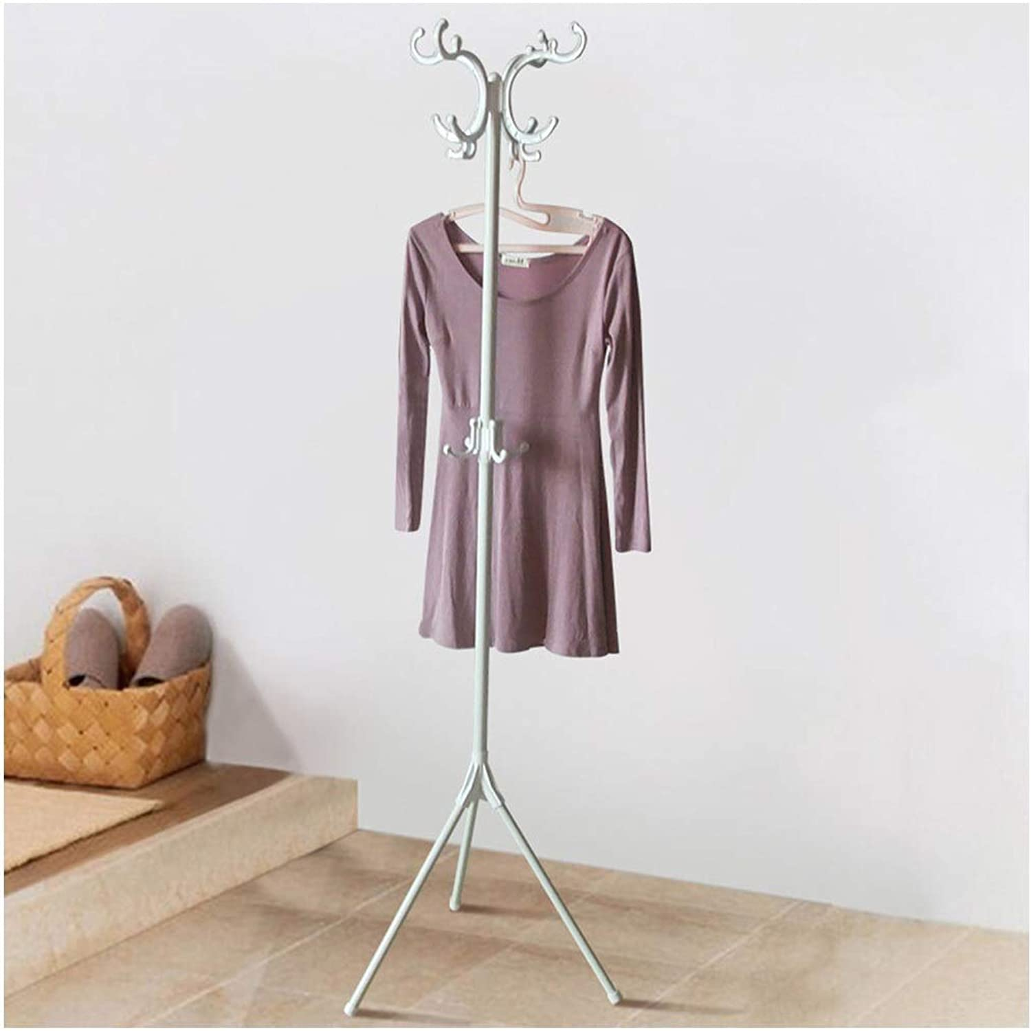 Standing Coat Racks Standing Coat Racks 171.5CM White Metal Hall Trees Coat Rack Stand 12Hooks Clothes Stand Tree Stylish Hat Coat Rail Stand Rack Clothes Jacket Storage Hanger Organiser -0223