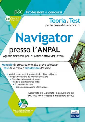 Navigator presso l'ANPAL: Manuale di preparazione alle prove selettive, test di verifica e simulazioni d'esame
