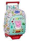 Safta Mochila Infantil de Peppa Pig con Carro 705, 260x110x340mm, multicolor